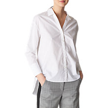 Buy Whistles Fiona Poplin Shirt, White Online at johnlewis.com