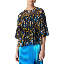Buy Whistles Habiba Iris Print Top, Navy/Multi Online at johnlewis.com