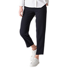 Buy Whistles Anna Elasticated Waist Trousers, Navy Online at johnlewis.com