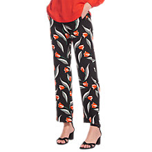 Buy Whistles Tulip Print Trousers, Multi Online at johnlewis.com