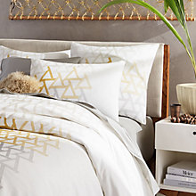 Buy west elm Embroidered Fading Triangle Bedding, Yellow/Grey Online at johnlewis.com