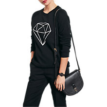 Buy hush Diamond Sweatshirt, Black/White Online at johnlewis.com