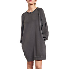 Buy hush Puff Sleeve Sweatshirt Dress, Washed Black Online at johnlewis.com