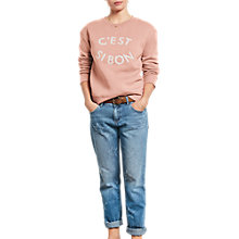 Buy hush C'est Si Bon Jumper, Rose Tan/Ecru Online at johnlewis.com