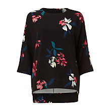 Buy Phase Eight Edie Floral Print Blouse, Black/Multi Online at johnlewis.com