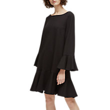 Buy French Connection Matuku Lula Bell Sleeve Jersey Dress, Black Online at johnlewis.com
