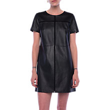 Buy French Connection Gizo Leather Dress, Black Online at johnlewis.com