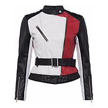Buy French Connection Evia Biker Jacket, Multi Online at johnlewis.com