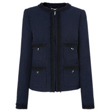 Buy L.K.Bennett Charlee Jacket, Navy Online at johnlewis.com