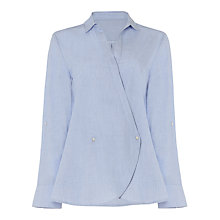 Buy Phase Eight Gianna Cross Over Blouse, Chambray Online at johnlewis.com