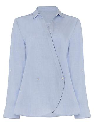 Phase Eight Gianna Cross Over Blouse, Chambray