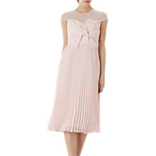 Buy Coast Bonnie Bow Dress, Blush Online at johnlewis.com