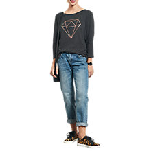 Buy hush Diamond T-Shirt, Charcoal Marl/Gold Online at johnlewis.com