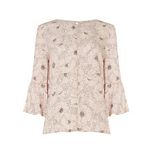 Buy Phase Eight Molly Floral Print Blouse, Cream Porcelain Online at johnlewis.com