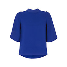 Buy Coast Andrica Button Top, Cobalt  Blue Online at johnlewis.com