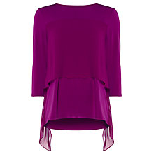 Buy Phase Eight Wynne Double Layer Top, Magenta Online at johnlewis.com