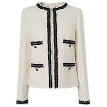 Buy L.K.Bennett Charl Tailored Jacket, Cream Online at johnlewis.com