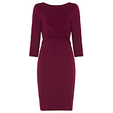 Buy Phase Eight Tayla Twist Front Dress, Magneta Online at johnlewis.com