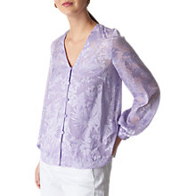 Buy Whistles Devore Top, Lilac Online at johnlewis.com