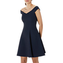 Buy Coast Avela Fit and Flare Dress, Navy Online at johnlewis.com