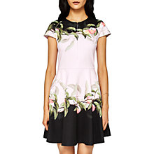 Buy Ted Baker Antana Peach Blossom Skater Dress, Light Pink Online at johnlewis.com