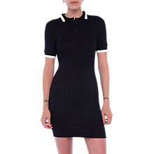 Buy French Connection Milos Ribbed Dress, Black Online at johnlewis.com