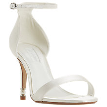 Buy Dune Bridal Collection Marellda Pearl Heel Sandals, Ivory Online at johnlewis.com