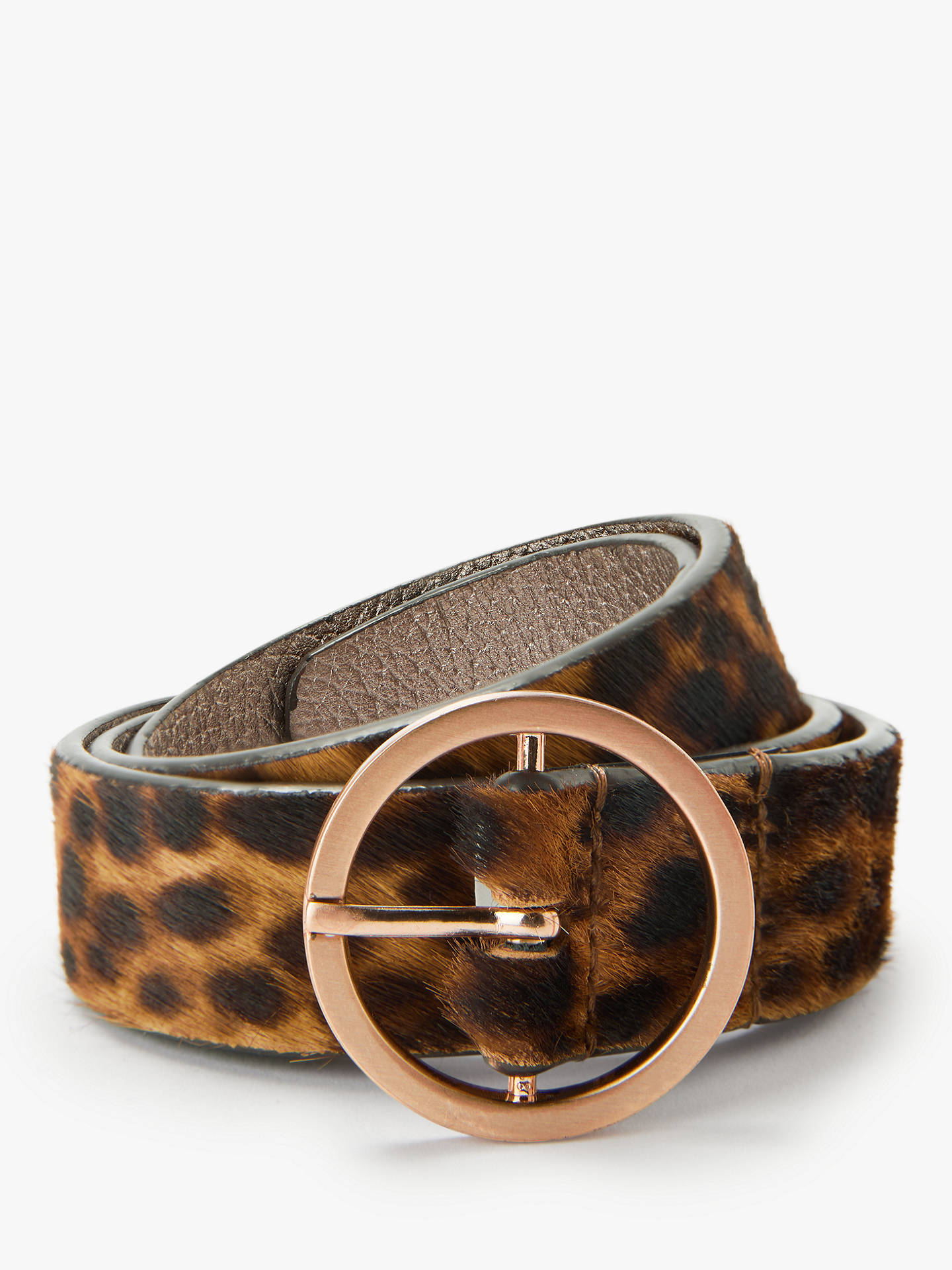 BuyBoden Classic Leopard Pattern Leather Jeans Belt, Tan Leopard, XS Online at johnlewis.com
