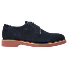 Buy Geox Damocle Suede Derby Shoes, Blue Online at johnlewis.com