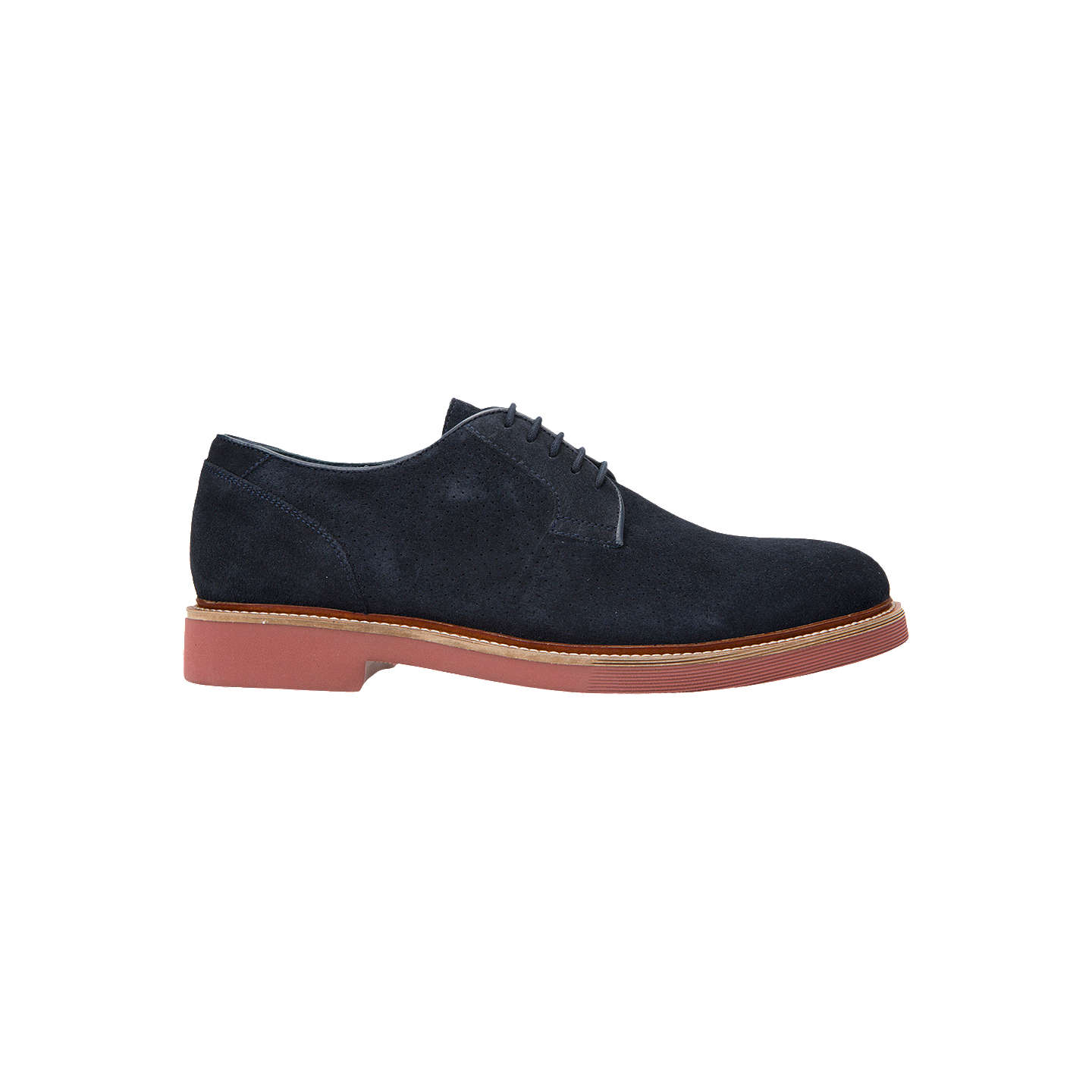 BuyGeox Damocle Suede Derby Shoes, Blue, 7 Online at johnlewis.com ...