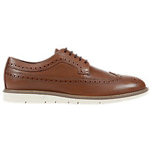 Buy Geox Uvet Leather Brogues, Brown Online at johnlewis.com