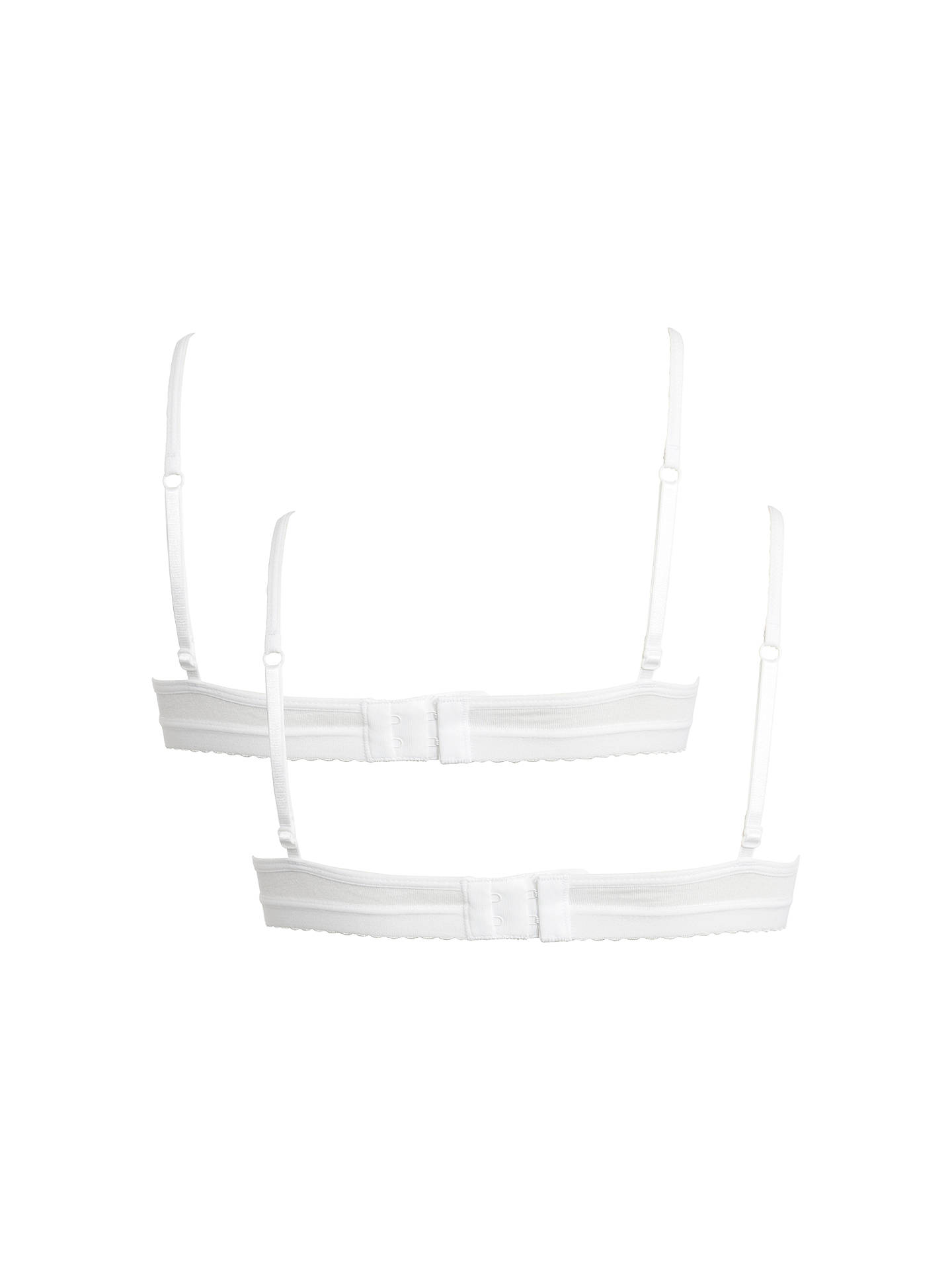 BuyJohn Lewis & Partners Girls' Bow Detail Bra, Pack of 2, White, 28A Online at johnlewis.com