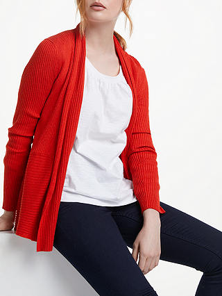 Buy John Lewis & Partners Edge to Edge Cardigan, Red, 8 Online at johnlewis.com