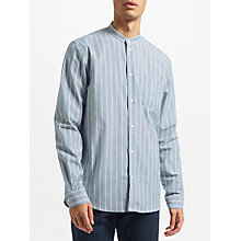 Buy Samsoe & Samsoe Liam Stripe Shirt, Light Blue Stripe Online at johnlewis.com