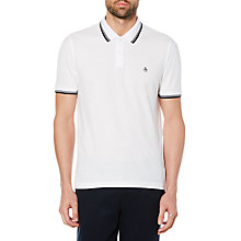 Buy Original Penguin Twin Tipped Polo Shirt, Bright White Online at johnlewis.com