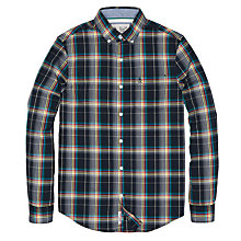 Buy Original Penguin Rainbow Check Shirt, Dark Sapphire Online at johnlewis.com