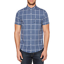 Buy Original Penguin Short Sleeve Wide Check Shirt, Vintage Indigo Online at johnlewis.com
