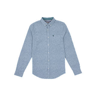 Pinpoint Logo, T-Shirt Homme, Grey (Dark Charcoal Heather), MediumOriginal Penguin