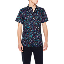 Buy PS Paul Smith Botanical Short Sleeve Slim Fit Shirt, Navy Online at johnlewis.com