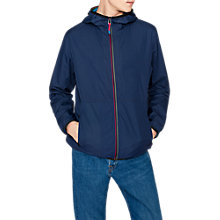 Buy PS Paul Smith Ripstop Packable Hooded Jacket, Navy Online at johnlewis.com