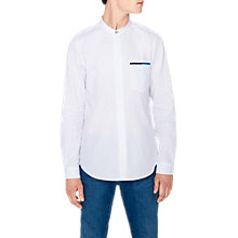 Buy PS Paul Smith Tipped Long Sleeve Shirt, White Online at johnlewis.com