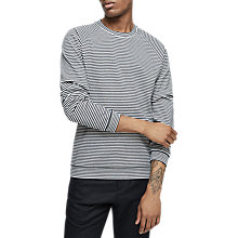 Buy Reiss Moston Stripe Jumper, Navy Online at johnlewis.com