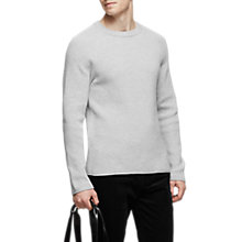 Buy Reiss Emory Ribbed Crew Neck Jumper Online at johnlewis.com