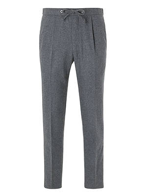 BuyKin Stretch Flannel Suit Trousers, Light Grey, 30R Online at johnlewis.com