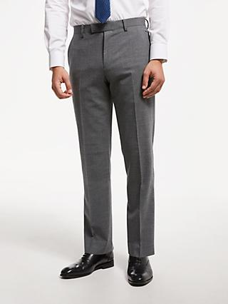 John Lewis & Partners Tailored Suit Trousers, Mid Grey