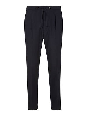 BuyKin Stretch Flannel Suit Trousers, Navy, 30R Online at johnlewis.com