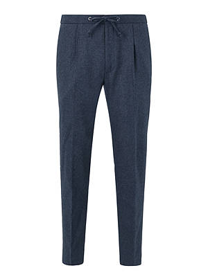 BuyKin Stretch Flannel Suit Trousers, Airforce Blue, 30R Online at johnlewis.com