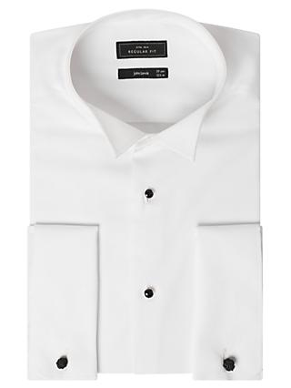 John Lewis & Partners Marcella Regular Fit Wing Collar Dress Shirt, White