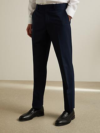 John Lewis & Partners Tailored Suit Trousers, Navy