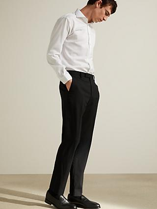 John Lewis & Partners Tailored Suit Trousers, Black